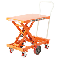 Spring Scissor Lift Trolley (With Centre Wheel Kit)